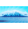 Los angeles city skyline detailed silhouette vector