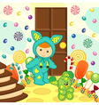 Baby boy rabbit sweet food vector