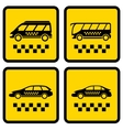 Set four taxi icons vector