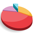Pie graph chart colorful vector