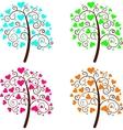 Valentine tree of love vector