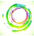 Abstract colorful circles frame vector