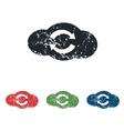 Cloud exchange grunge icon set vector