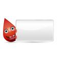 Drop of blood banner vector