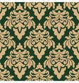 Green and beige seamless floral pattern vector