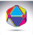 Abstract complex 3d ball with treasure effect vector