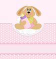 Babys greetings card vector