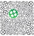 Green near gray gears background vector