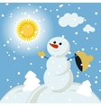 Merry christmas greeting card with winter vector