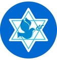 Independence day of israel david stars and peace vector
