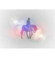 Background abstract with horse riding vector