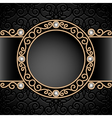Gold jewelry vignette vector