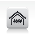 Poker house icon vector