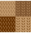 Wheat patterns set vector