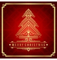 Christmas tree art deco style vector