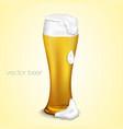 Light beer with the foam vector