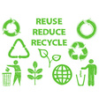 Recycle doodle icons vector