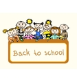 Decorative back to school background vector