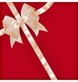 Pearls color gift bow with ribbon on red eps 10 vector