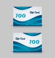 Gift card with blue abstract background vector