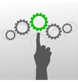Hand with gears vector