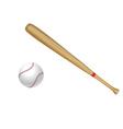 Baseball bat and ball vector