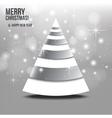 Christmas card with abstract christmas tree vector