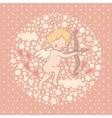 Cartoon of cupid vector