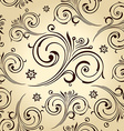 Seamless flowers wallpaper vintage background vector