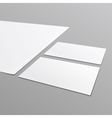 Blank stationery layout a4 paper business card vector