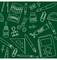 School or office supplies - seamless pattern vector