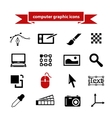 Computer graphic icons vector