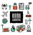 Logistic icon set vector