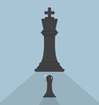 Pawn chess afraid of king chess vector