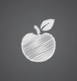 Apple sketch logo doodle icon vector