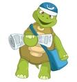 Funny turtle postman vector