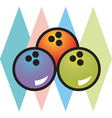 Retro bowling alley logos vector