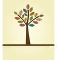Abstract autumn tree vector