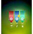 Ribbon modern infographics template vector