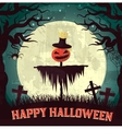 Halloween time background concept in retro style vector