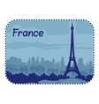 With eiffel tower in paris vector