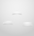 Wall with three niches stages for product placing vector