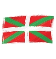 Grunge basque country flag vector
