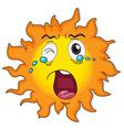 A crying sun vector