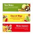 Mexico banner set vector