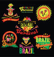Brazilian carnival big set of brazilian templates vector