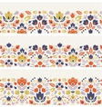Three ornamental folk tulips horizontal seamless vector