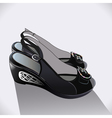 Shoes black patent leather vector