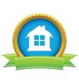 Gold house logo vector