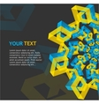 Abstract geometric template for text vector